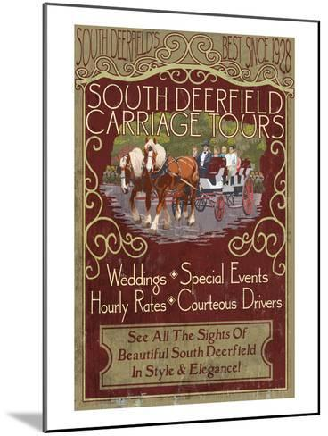 South Deerfield, Massachusetts - Carriage Tours-Lantern Press-Mounted Art Print