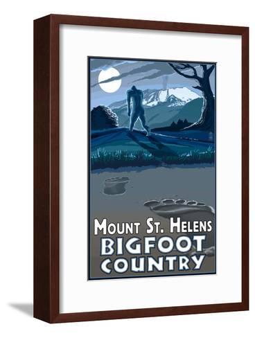 Mount St. Helens - Bigfoot Country-Lantern Press-Framed Art Print