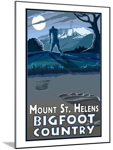 Mount St. Helens - Bigfoot Country-Lantern Press-Mounted Art Print