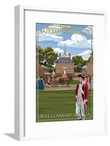 Williamsburg, Virginia - Governor's Palace in Spring-Lantern Press-Framed Art Print