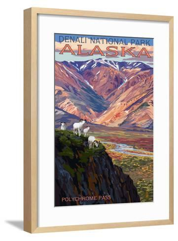 Denali National Park, Alaska - Polychrome Pass-Lantern Press-Framed Art Print