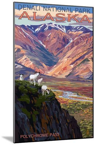 Denali National Park, Alaska - Polychrome Pass-Lantern Press-Mounted Art Print