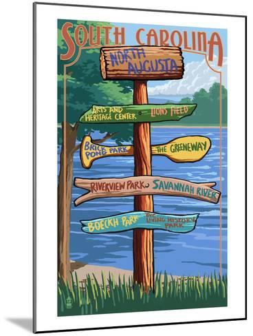 North Augusta, South Carolina - Sign Destinations-Lantern Press-Mounted Art Print
