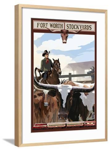The Stock Yards - Fort Worth, Texas-Lantern Press-Framed Art Print
