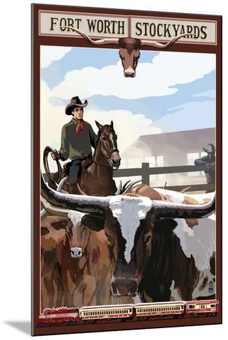 The Stock Yards - Fort Worth, Texas-Lantern Press-Mounted Art Print