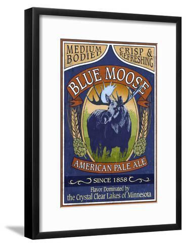 Minnesota - Blue Moose Pale Ale-Lantern Press-Framed Art Print