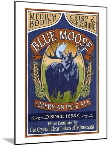 Minnesota - Blue Moose Pale Ale-Lantern Press-Mounted Art Print