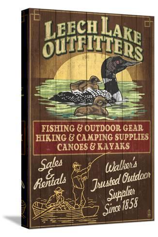 Minnesota - Leech Lake Outfitters Loon-Lantern Press-Stretched Canvas Print