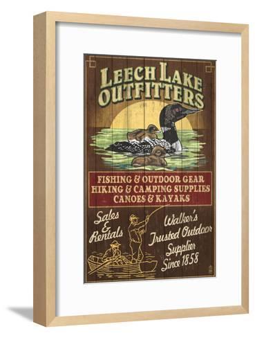 Minnesota - Leech Lake Outfitters Loon-Lantern Press-Framed Art Print