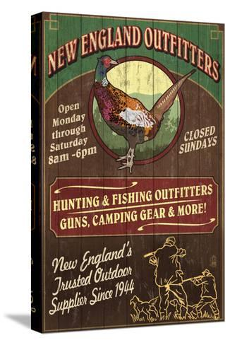 New England Outfitters - Pheasant-Lantern Press-Stretched Canvas Print