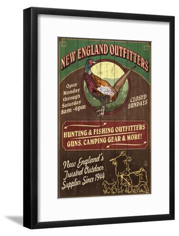New England Outfitters - Pheasant-Lantern Press-Framed Art Print