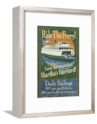 Martha's Vineyard, Massachusetts - Ferry Ride-Lantern Press-Framed Art Print