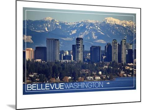 Bellevue, Washington - Lake Washington and Skyline-Lantern Press-Mounted Art Print
