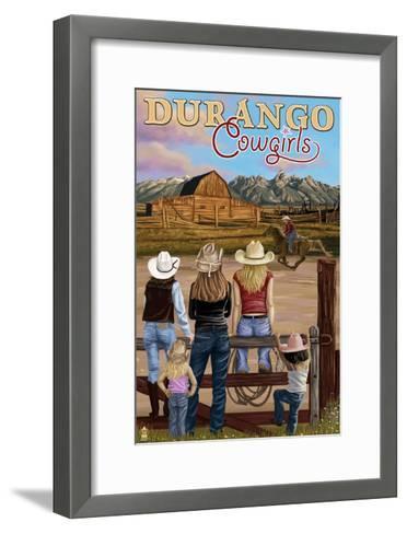 Durango, Colorado - Cowgirls-Lantern Press-Framed Art Print