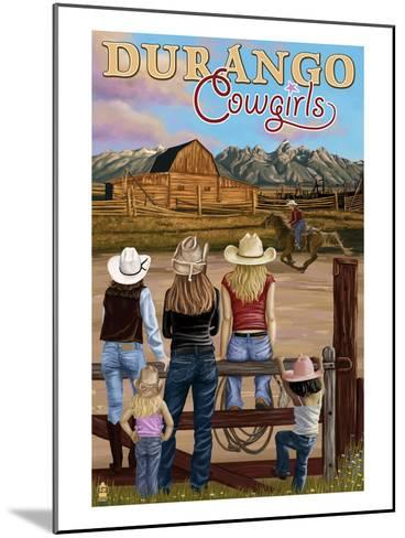 Durango, Colorado - Cowgirls-Lantern Press-Mounted Art Print