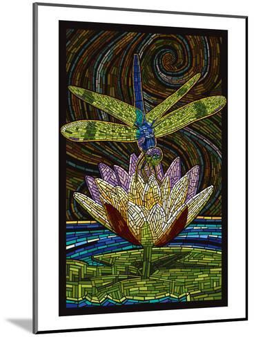 Dragonfly - Paper Mosaic-Lantern Press-Mounted Art Print