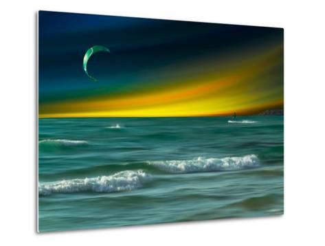 Green Surfer-Josh Adamski-Metal Print