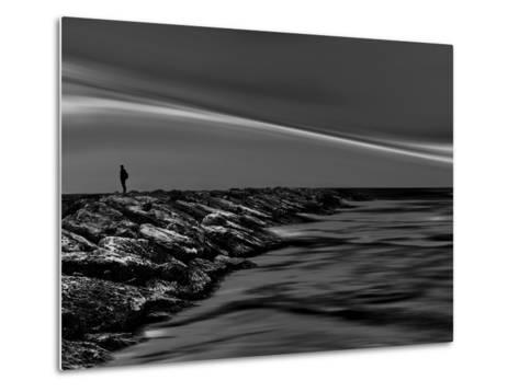 On the Rocks Bw-Josh Adamski-Metal Print