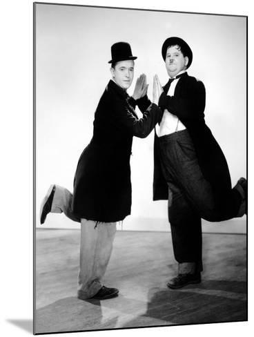 Way Out West, Stan Laurel, Oliver Hardy, 1937--Mounted Photo