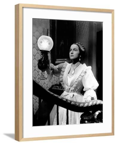 The Heiress, Olivia De Havilland, 1949--Framed Art Print