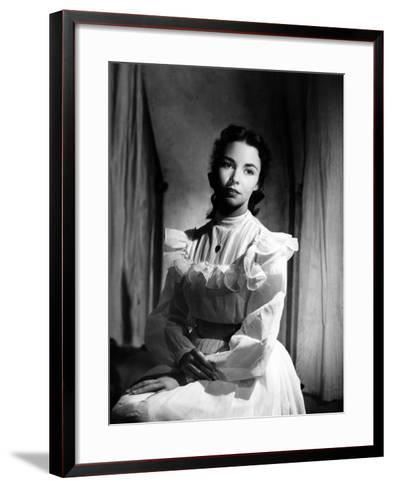 Portrait of Jennie, Jennifer Jones, 1948--Framed Art Print