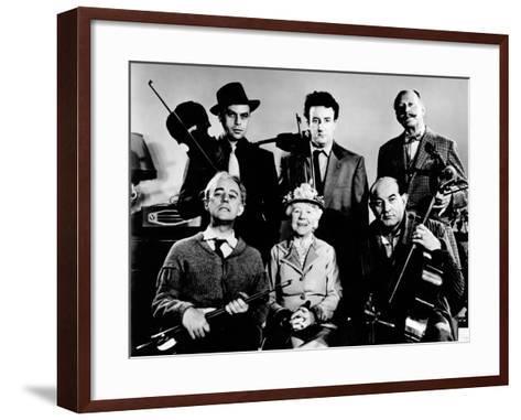 The Ladykillers, Alec Guinness, Herbert Lom, Katie Johnson, Peter Sellers, Danny Green, 1955--Framed Art Print