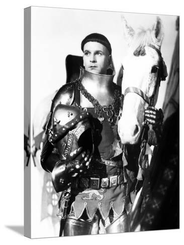 Henry V, Laurence Olivier, 1944, with Horse--Stretched Canvas Print