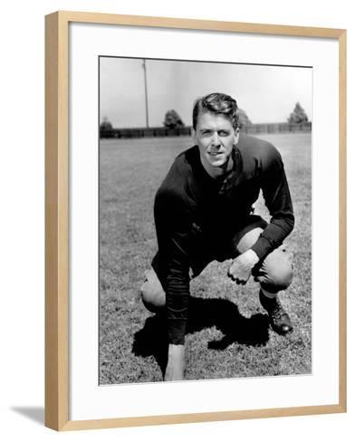 Knute Rockne All American, Ronald Reagan, 1940--Framed Art Print