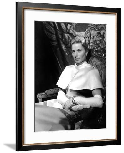 Anastasia, Ingrid Bergman, 1956--Framed Art Print