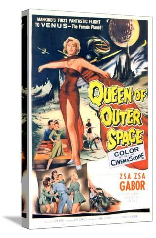 Queen of Outer Space, Zsa Zsa Gabor, 1958--Stretched Canvas Print