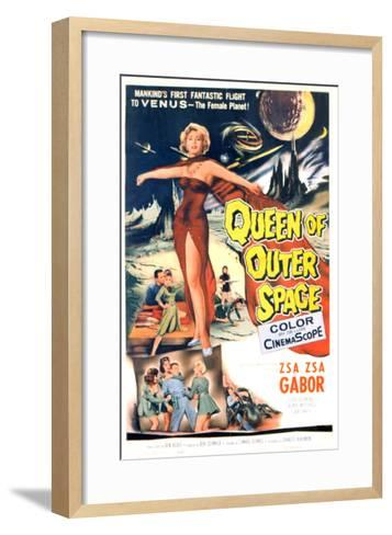 Queen of Outer Space, Zsa Zsa Gabor, 1958--Framed Art Print