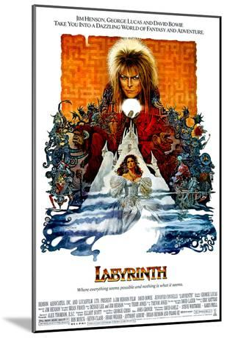 Labyrinth, David Bowie, Jennifer Connelly, 1986--Mounted Photo