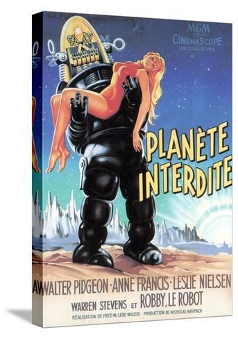 Forbidden Planet, Robby the Robot Holding Anne Francis, 1956--Stretched Canvas Print