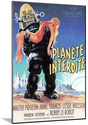 Forbidden Planet, Robby the Robot Holding Anne Francis, 1956--Mounted Photo
