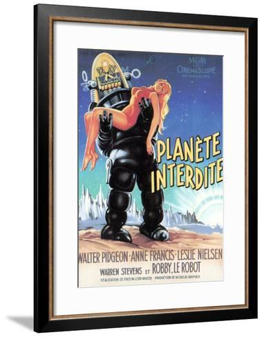 Forbidden Planet, Robby the Robot Holding Anne Francis, 1956--Framed Art Print