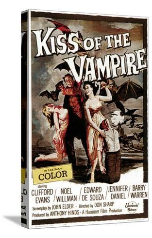 The Kiss of the Vampire, 1963--Stretched Canvas Print