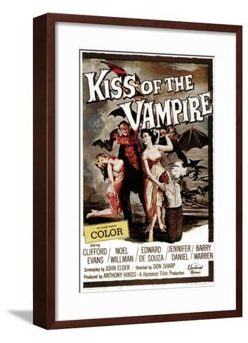 The Kiss of the Vampire, 1963--Framed Art Print