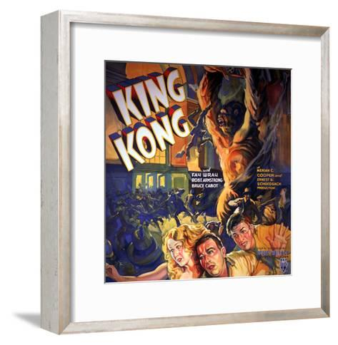 King Kong, Fay Wray, Robert Armstrong, Bruce Cabot, 1933--Framed Art Print