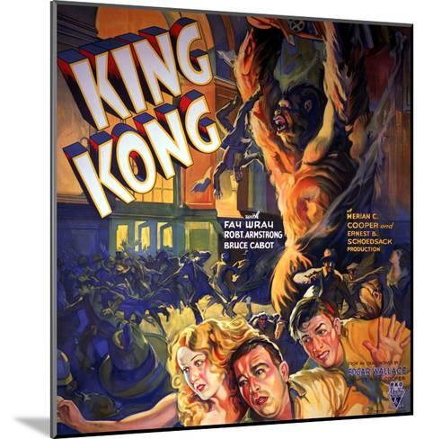 King Kong, Fay Wray, Robert Armstrong, Bruce Cabot, 1933--Mounted Photo