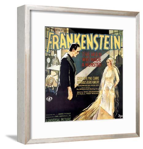 Frankenstein, Boris Karloff, Mae Clarke, 1931--Framed Art Print
