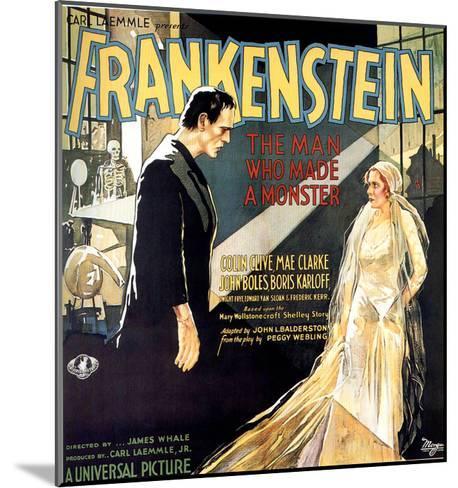 Frankenstein, Boris Karloff, Mae Clarke, 1931--Mounted Photo