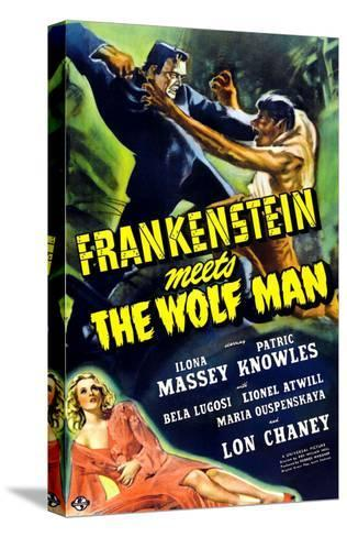 Frankenstein Meets the Wolf Man, 1943--Stretched Canvas Print