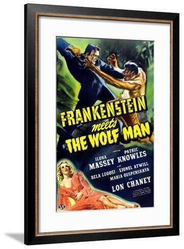 Frankenstein Meets the Wolf Man, 1943--Framed Art Print