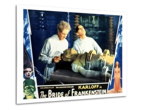 Bride of Frankenstein, Ernest Thesiger, Elsa Lanchester, Colin Clive, 1935--Metal Print