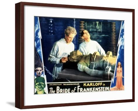 Bride of Frankenstein, Ernest Thesiger, Elsa Lanchester, Colin Clive, 1935--Framed Art Print