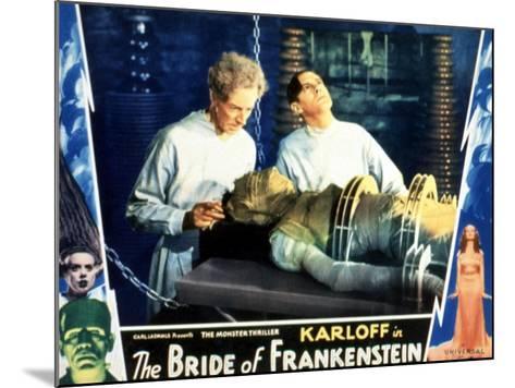 Bride of Frankenstein, Ernest Thesiger, Elsa Lanchester, Colin Clive, 1935--Mounted Photo