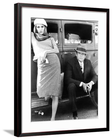 Bonnie and Clyde, Faye Dunaway, Warren Beatty, 1967--Framed Art Print