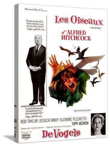The Birds, Tippi Hedren, Alfred Hitchcock, 1963--Stretched Canvas Print