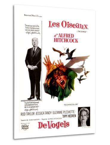The Birds, Tippi Hedren, Alfred Hitchcock, 1963--Metal Print