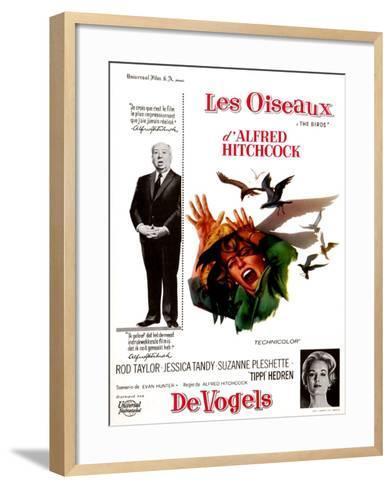 The Birds, Tippi Hedren, Alfred Hitchcock, 1963--Framed Art Print